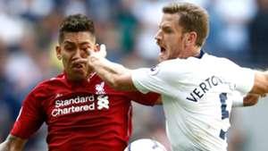 Roberto Firmino eye Jan Vertonghen Liverpool Tottenham 15092018