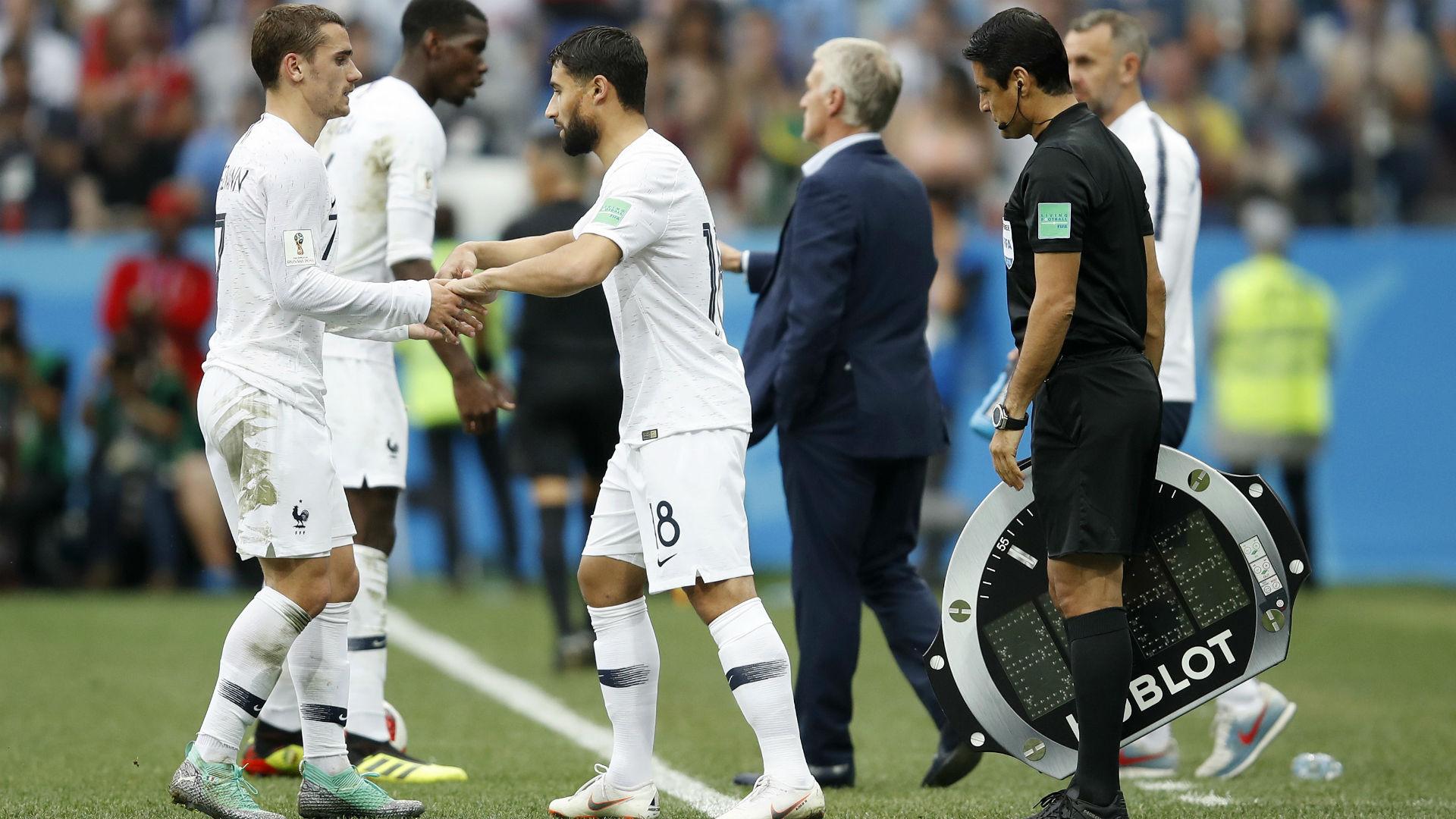 Griezmann Fekir France Uruguay World Cup 2018