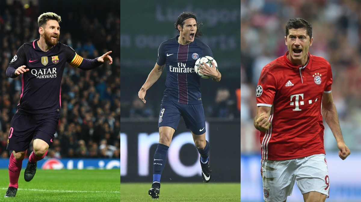 GFX Messi, Cavani and Lewandowski