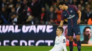 MARQUINHOS CRISTIANO RONALDO PSG REAL MADRID CHAMPIONS LEAGUE