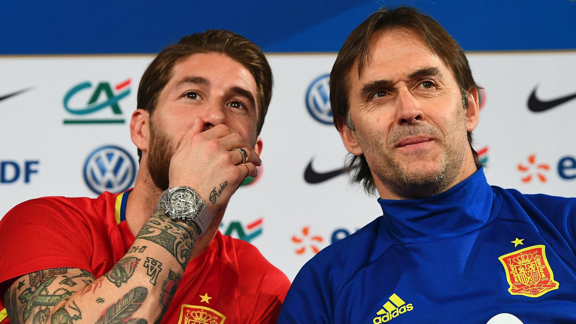 Sergio Ramos Julen Lopetegui Spain