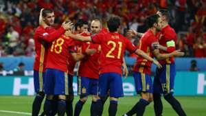 Morata Iniesta David Silva Spain Turkey Euro 2016