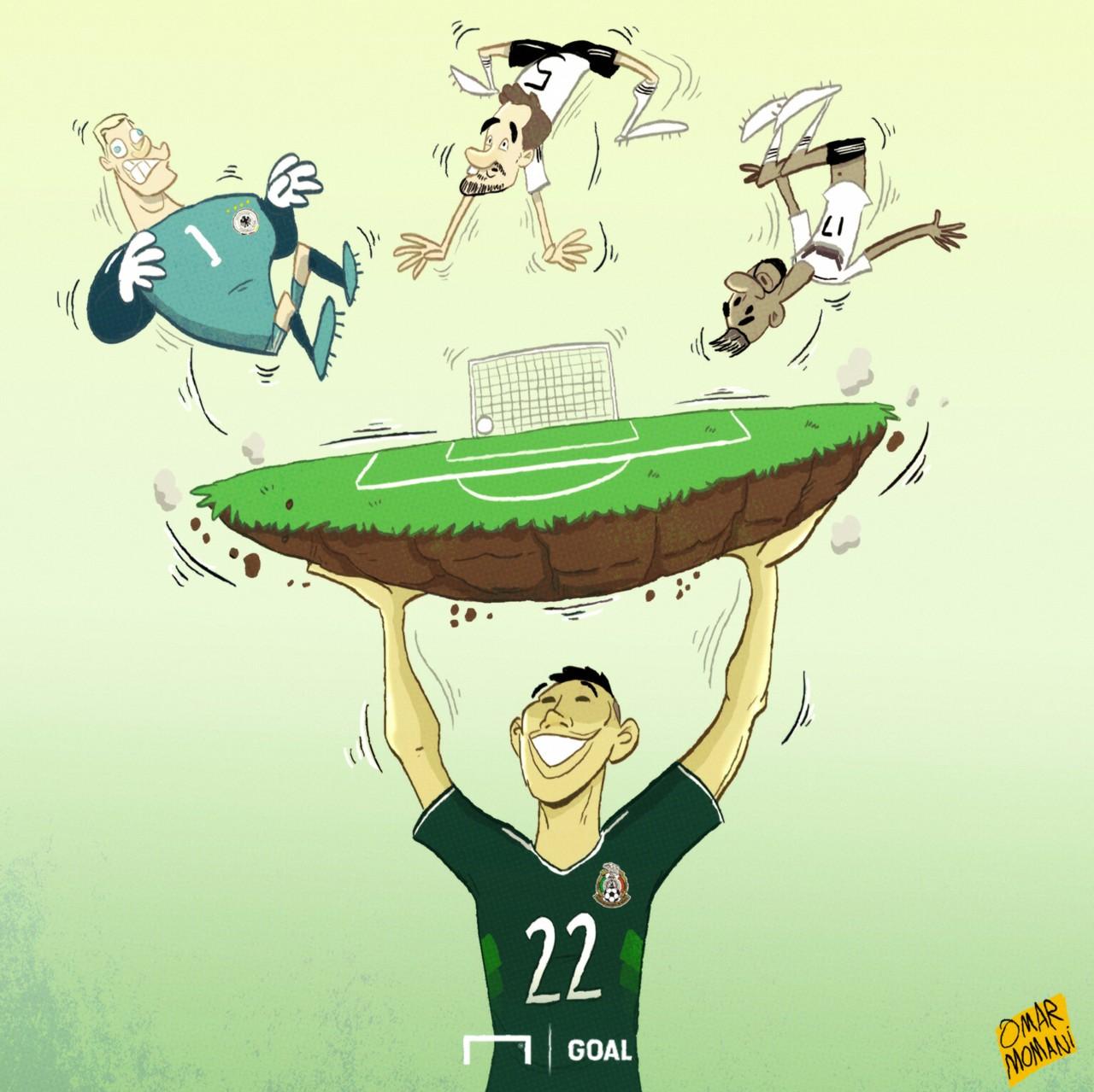 Chucky Lozano Mexico Germany Cartoon
