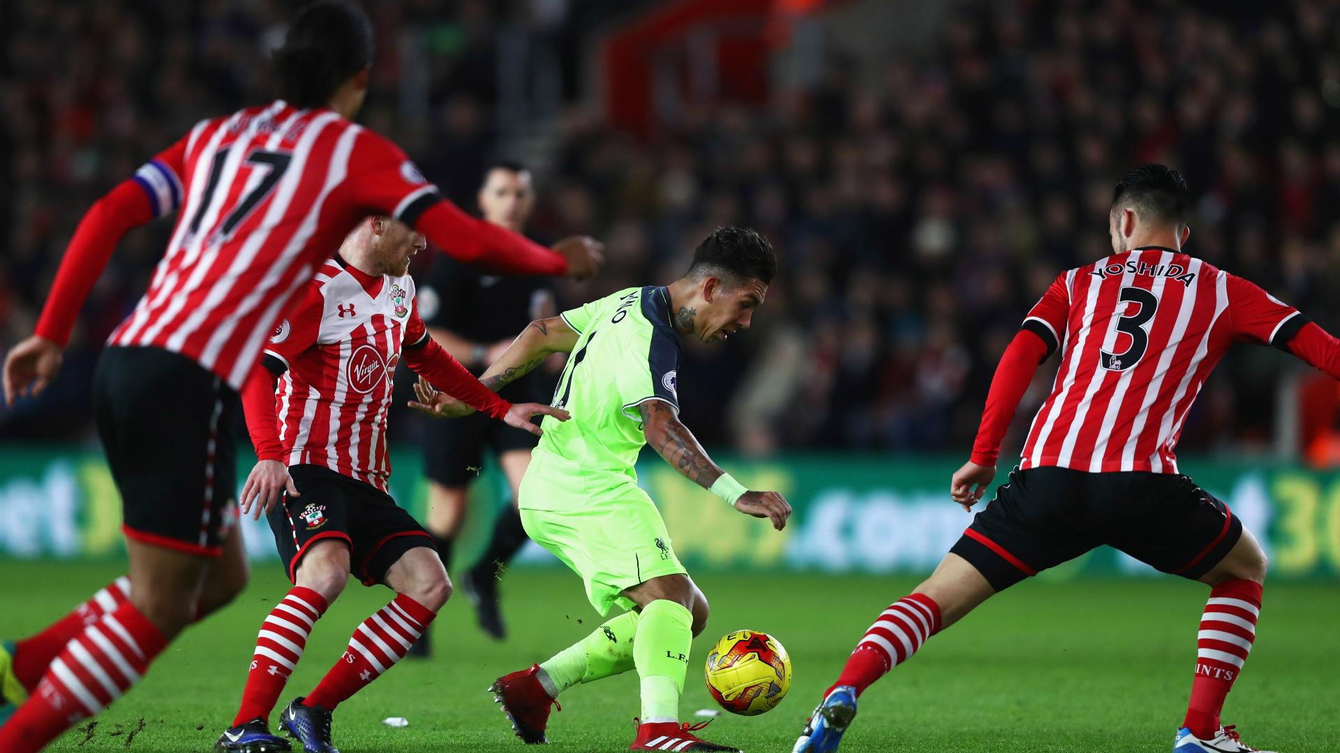 Roberto Firmino Southampton Liverpool EFL Cup
