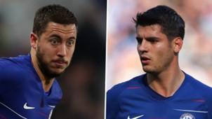 Eden Hazard, Alvaro Morata, Chelsea