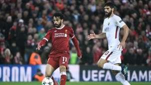 Mohamed Salah Federico Fazio Liverpool Roma
