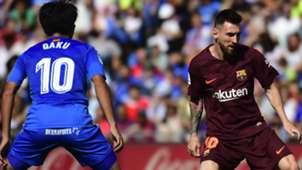 Lionel Messi Gaku Shibasaki Getafe Barcelona LaLiga 16092017