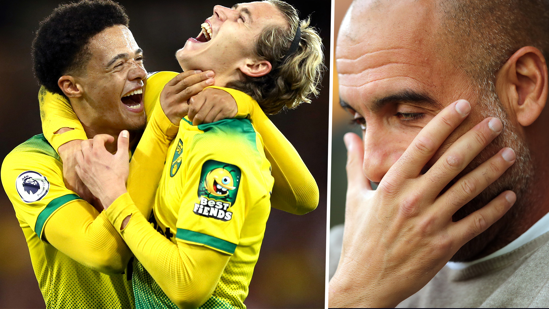 Jamal Lewis Todd Cantwell Norwich City Pep Guardiola Man City