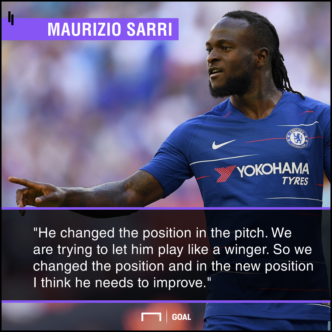 Maurizio Sarri Victor Moses Chelsea must improve
