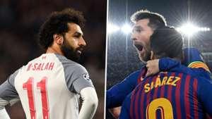 Mohamed Salah Lionel Messi Luis Suarez GFX
