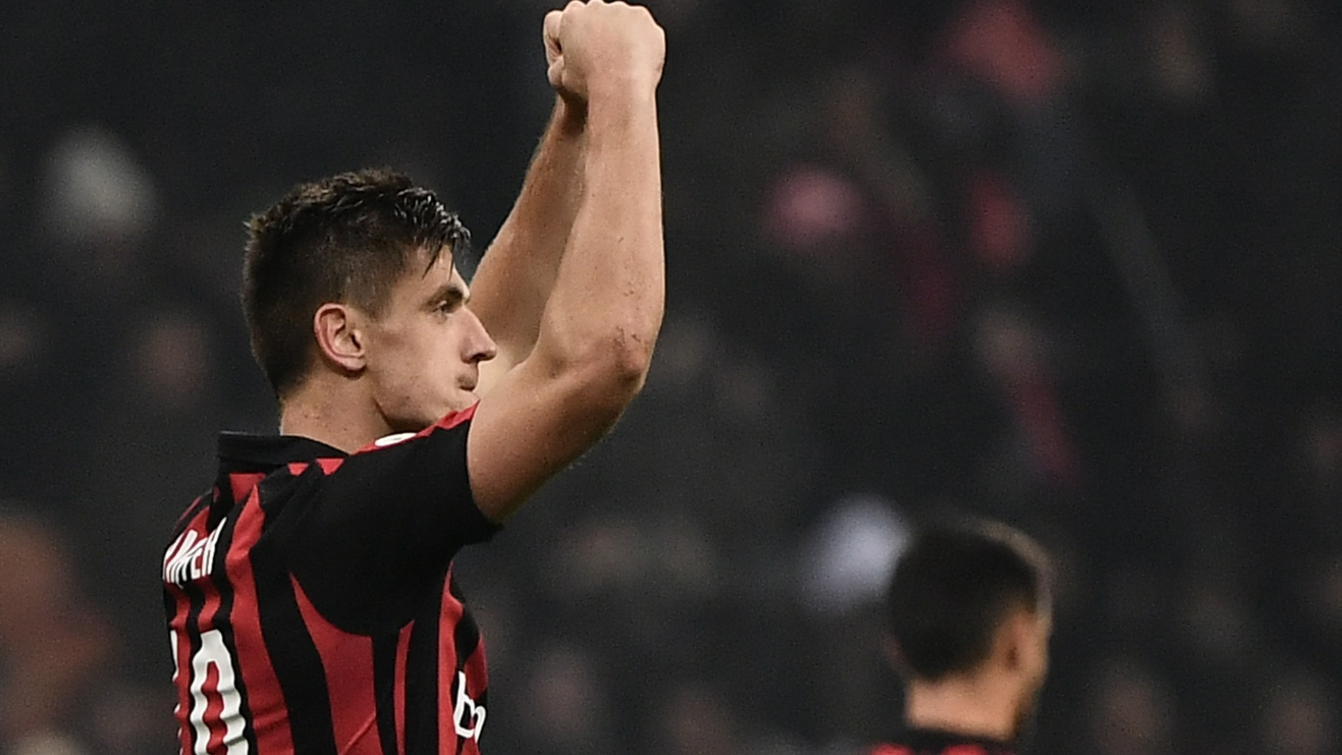 Piatek celebration milan cagliari