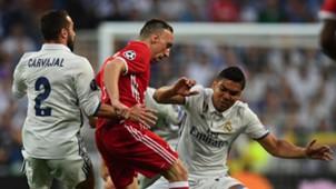 Franck Ribery Casemiro Marcelo Real Madrid Bayern Munich UCL 18042017