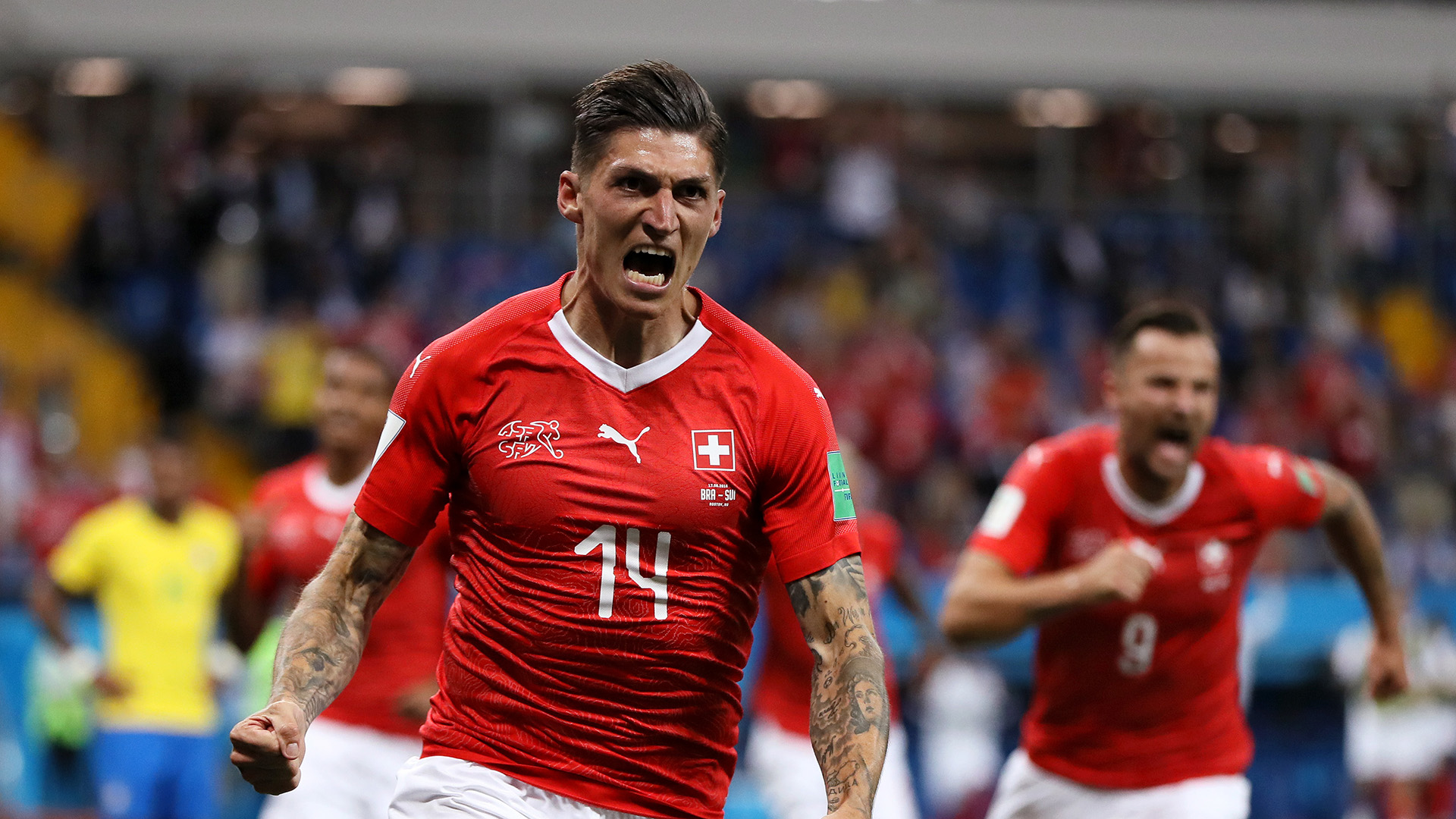 Steven Zuber Brazil Switzerland World Cup 17062018