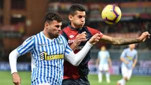 Andrea Petagna Cristian Romero Genoa SPAL Serie A