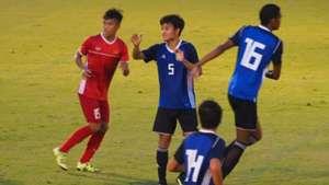 U19 Việt Nam U19 Nhật Bản Giao hữu quốc tế tháng 9 2018