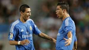 Angel Di Maria Cristiano Ronaldo Real Madrid
