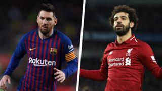 Mohamed Salah Lionel Messi Liverpool Barcelona Champions League