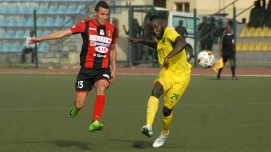 Plateau United vs. USM Alger - Derfallou, Junior Salomon