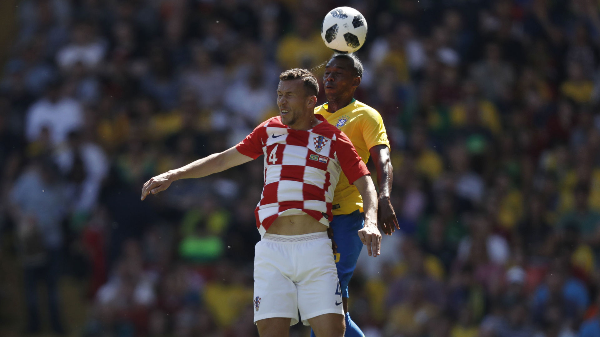 Fernandinho Ivan Perisic Brazil Croatia Friendly 03062018