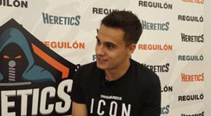 Real Madrid player Sergio Reguilón during the interview with Goal