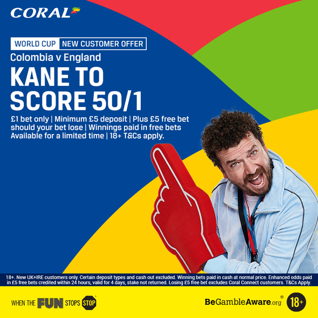 Harry Kane to score anytime Coral new customer offer