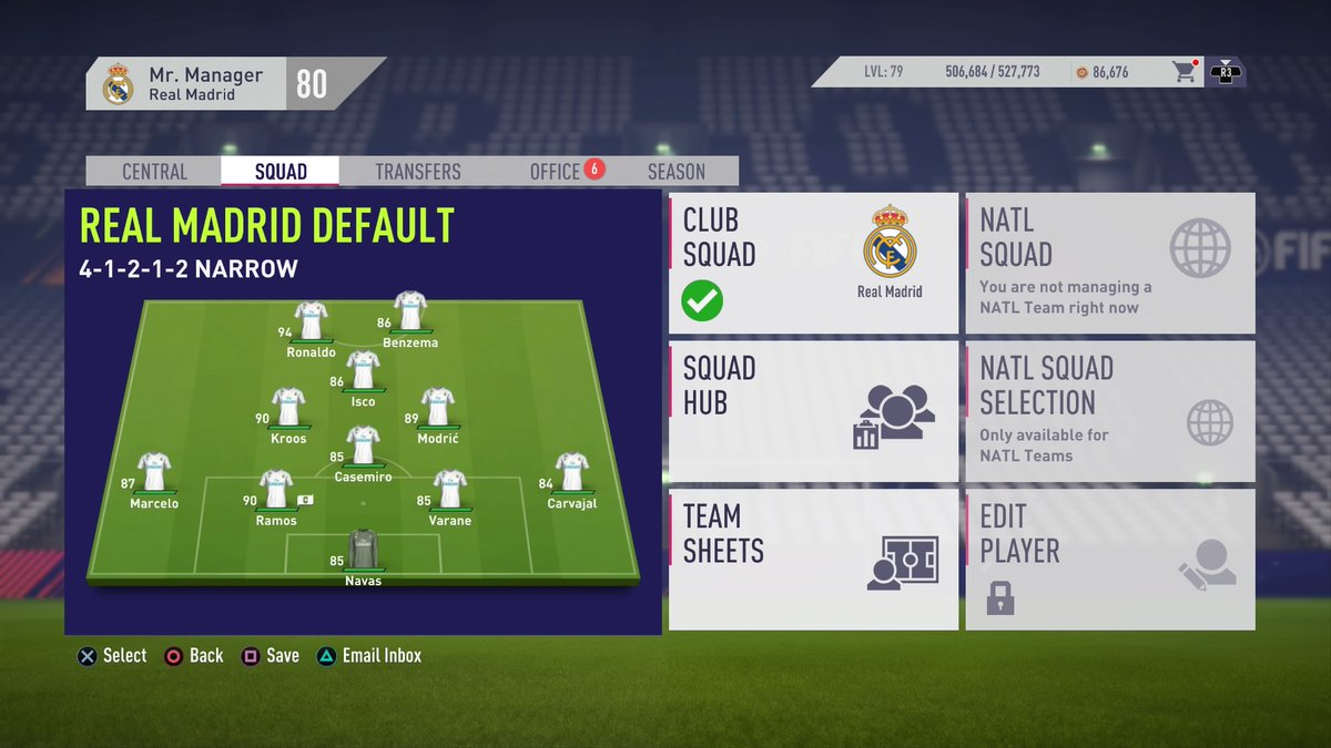 FIFA 18 Real Madrid Formation