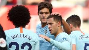 Eden Hazard Marcos Alonso Willian Chelsea 071020118