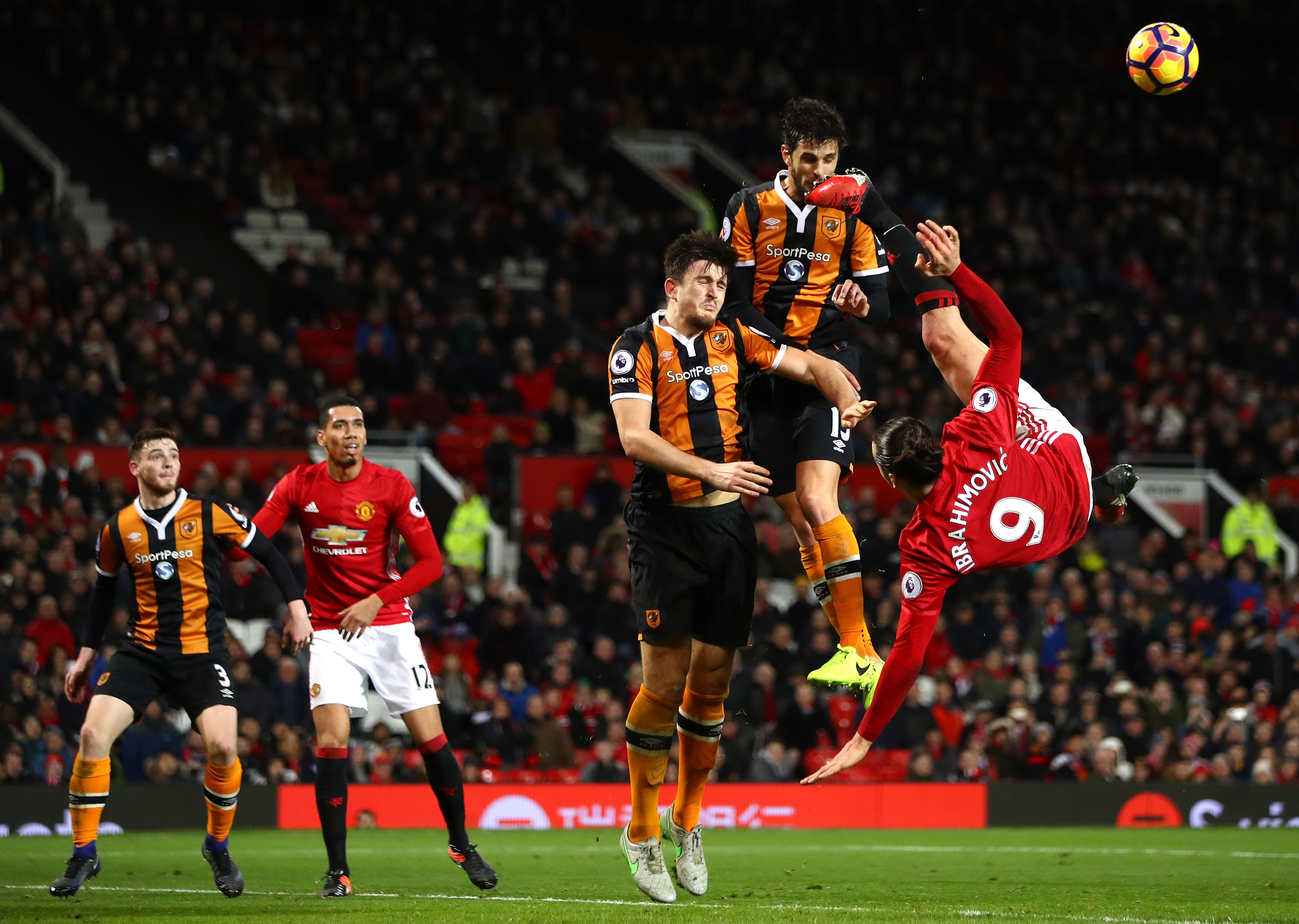 Harry Maguire Andrea Ranocchia Zlatan Ibrahimovic Hull City Manchester United