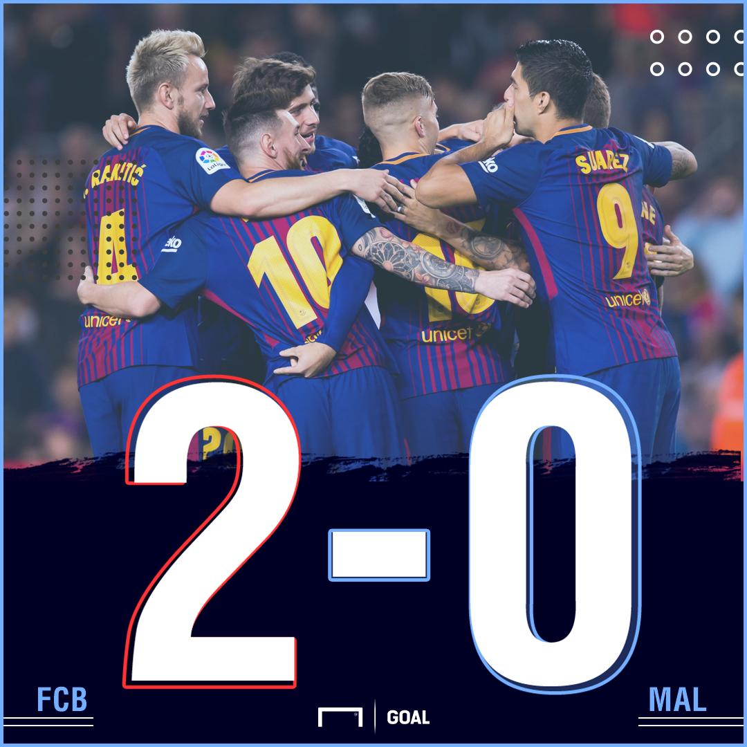 Barca Malaga score