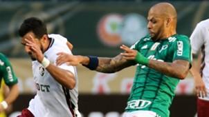 Henrique Dourado Felipe Melo Palmeiras Fluminense Brasileirão 10 06 2017