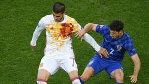 Alvaro Morata Sime Vrsaljko Spain Croatia UEFA Euro 2016