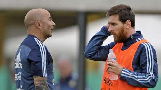 2018-05-22 Lionel Messi Jorge Sampaoli