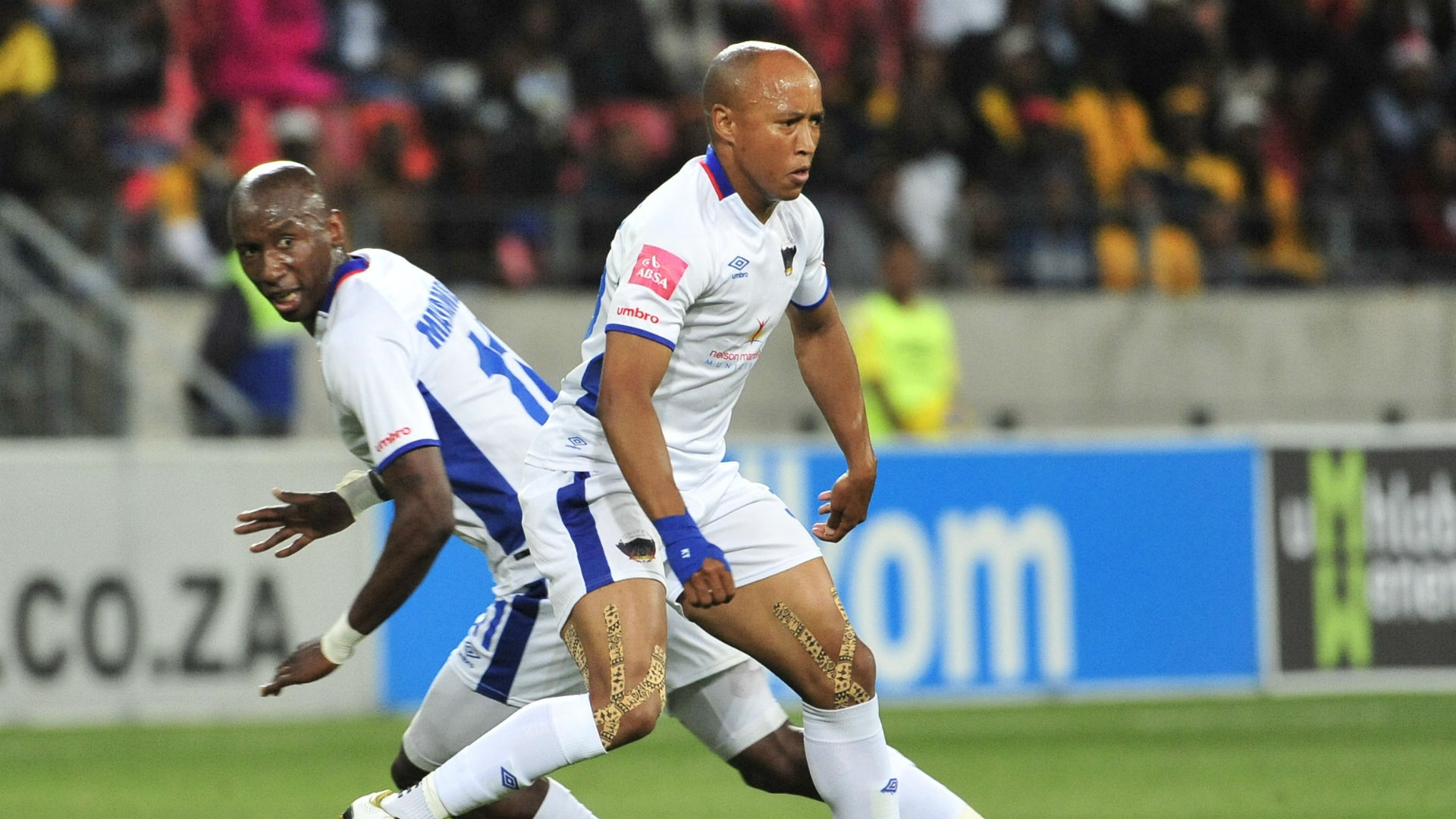 Chippa United Kurt Lentjies and Mark Mayambela, December 2017
