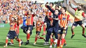 Lecce celebrating Serie B