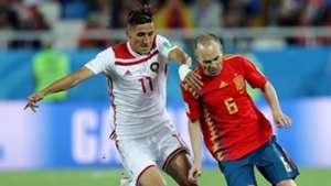 Andres Iniesta Faycal Fajr Spain Morocco España Portugal 25062018