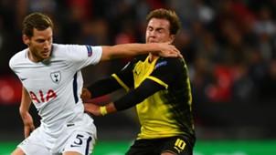 Mario Götze Vertonghen Tottenham Dortmund 091317