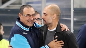 Maurizio Sarri Pep Guardiola Napoli Manchester City