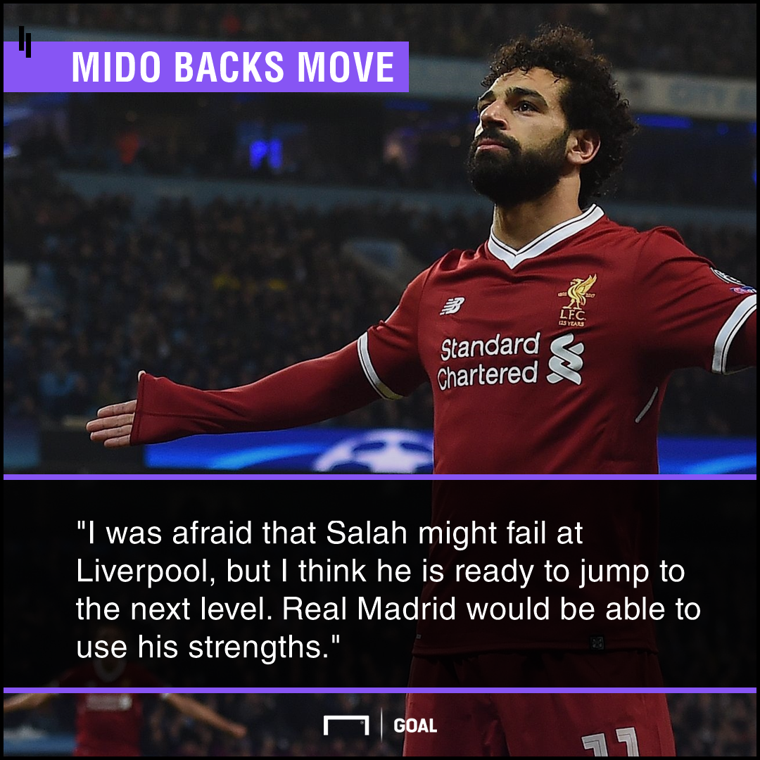 Mohamed Salah ready for Real Madrid move Mido