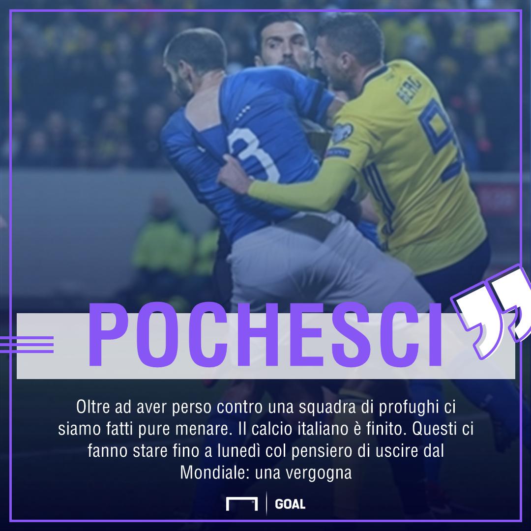 Pochesci, che attacco all'Italia:
