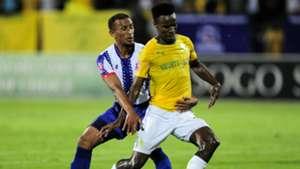 Nazeer Allie, Maritzburg United & Themba Zwane, Mamelodi Sundowns, March 2019