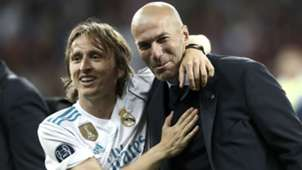 luka modric zinedine zidane - real madrid champions league - 26052018