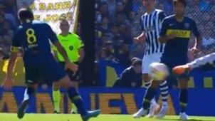 CAPTURA Boca Talleres Mano Perez Superliga argentina 120818