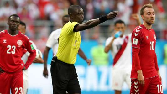 Referee Bakary Bassama Peru Denmark World Cup 2018