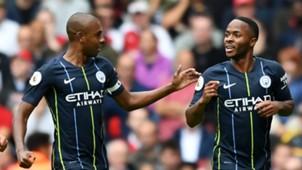 Fernandinho Sterling Manchester City Arsenal Premier League 12 08 2018