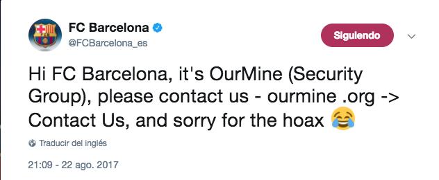 Tuis Barcelona hackeo
