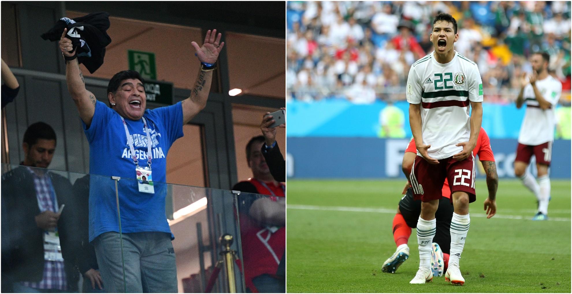 Maradona quiere al Chucky Lozano en su equipo