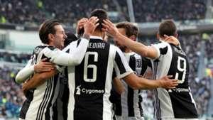Juventus celebrating Sassuolo Serie A