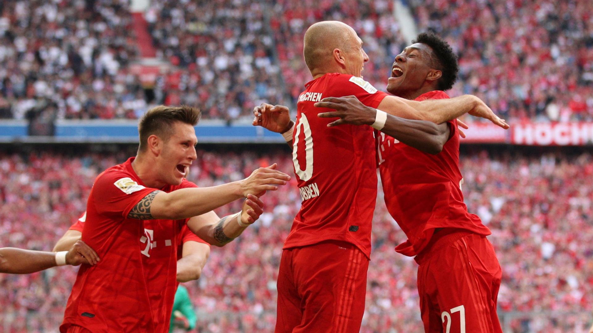 Bayern Munich crowned Bundesliga champion as Robben and Ribery bid farewell