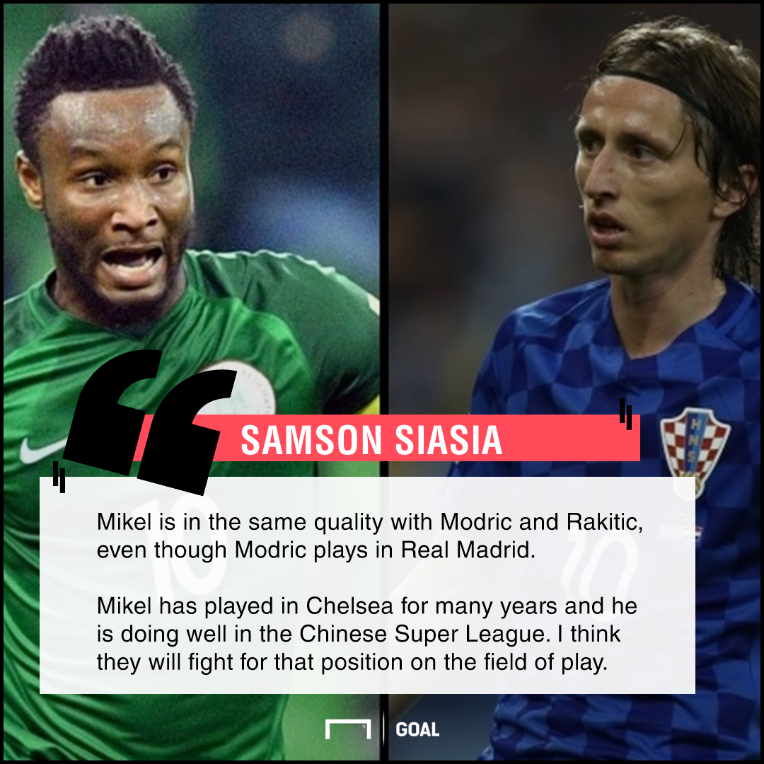 Siasia: Mikel is as good as Real Madrid's Luka Modric and Barcelona's Ivan Rakitic