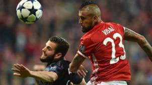 NACHO REAL MADRID ARTURO VIDAL BAYERN MÜNCHEN UEFA CHAMPIONS LEAGUE 12042017